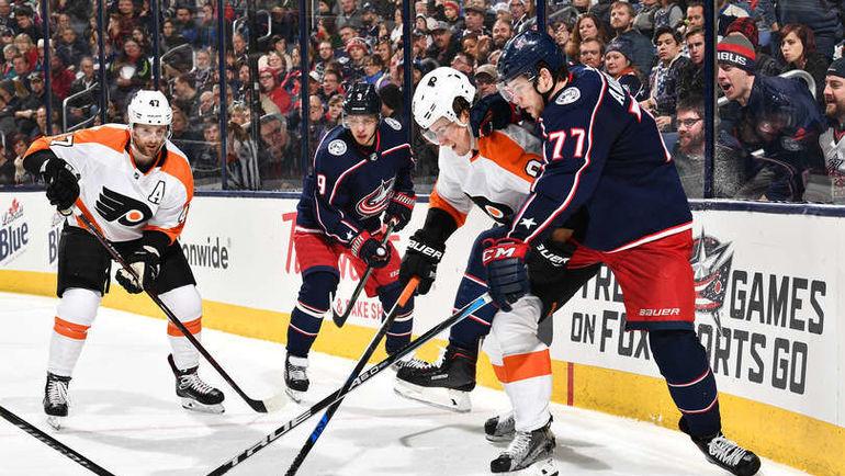 "Суббота. Коламбус. ""Коламбус"" – ""Филадельфия"" – 2:1 Б. Артемий ПАНАРИН (№9). Фото NHL.com"