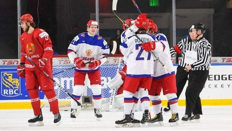 Пятница. Баффало. Белоруссия - Россия - 2:5. Россияне одержали вторую победу на МЧМ и вышли в плей-офф. Фото 2018.worldjunior.hockey