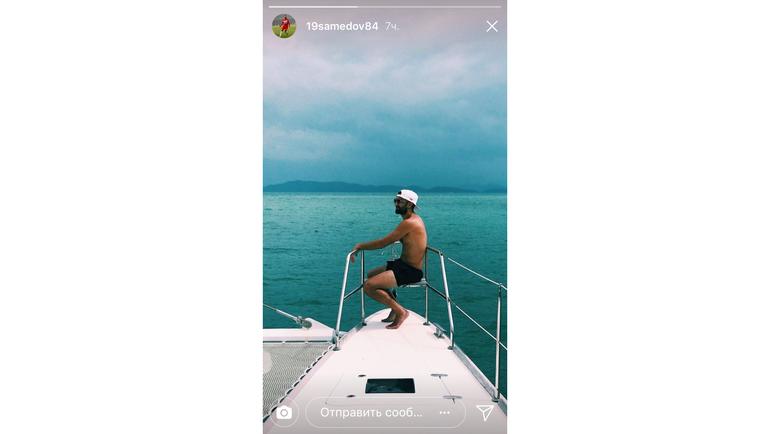 Александр САМЕДОВ на яхте. Фото instagram.com/