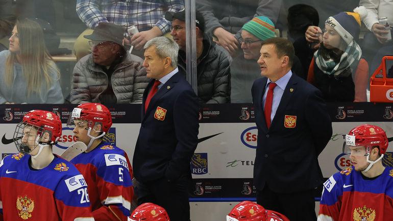 Сборная Валерия БРАГИНА (справа) vs США: два поражения в последних двух встречах. Фото ФХР, fhr.ru