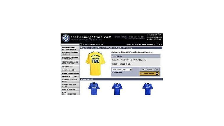 """Официальный сайт """"Челси"""" начал продавать футболки Робинью еще до завершения сделки..."""