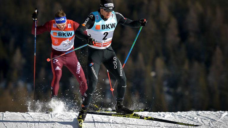 Сегодня. Ленцерхайде. Сергей УСТЮГОВ (слева) и Дарио КОЛОНЬЯ. Фото AFP