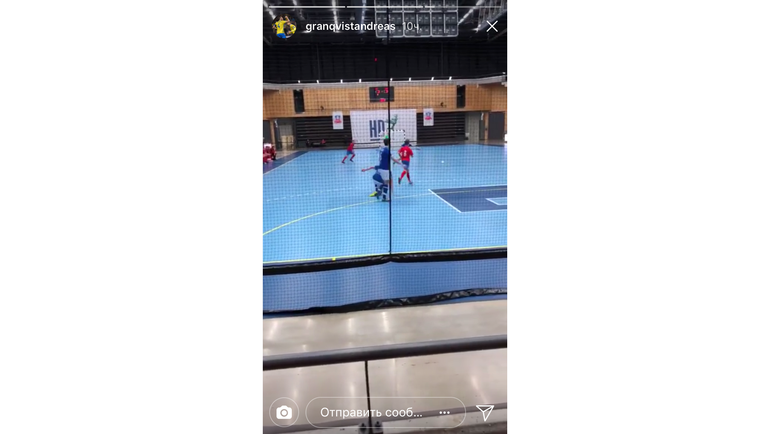Андреас Гранквист на мини-футболе. Фото instagram.com/