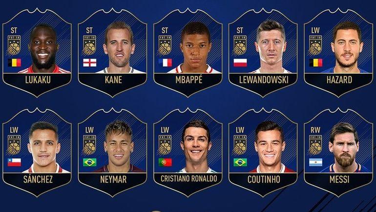 Нападающие, претендующие на попадание в команду год FIFA 18. Фото EA Sports