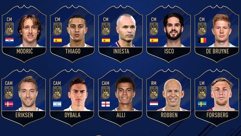 Полузащитники, претендующие на попадание в команду год FIFA 18. Фото EA Sports