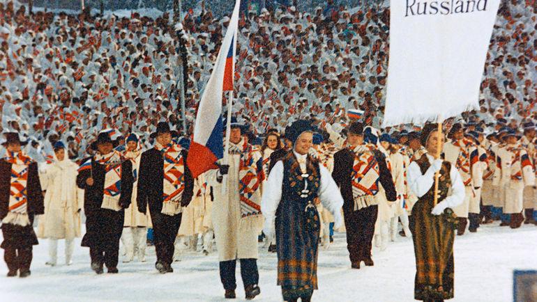 Сергей ЧЕПИКОВ был знаменосцем сборной России на зимних Играх-1994 в Лиллехаммере. Фото Сергей ЧИСТЯКОВ, ИТАР-ТАСС