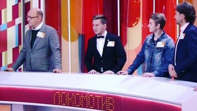 """Президент """"Локо"""" Илья ГЕРКУС (слева) на игре """"Сто к одному"""". Фото Инстаграм"""
