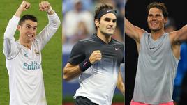 Роналду, Федерер или Надаль? Кто круче?