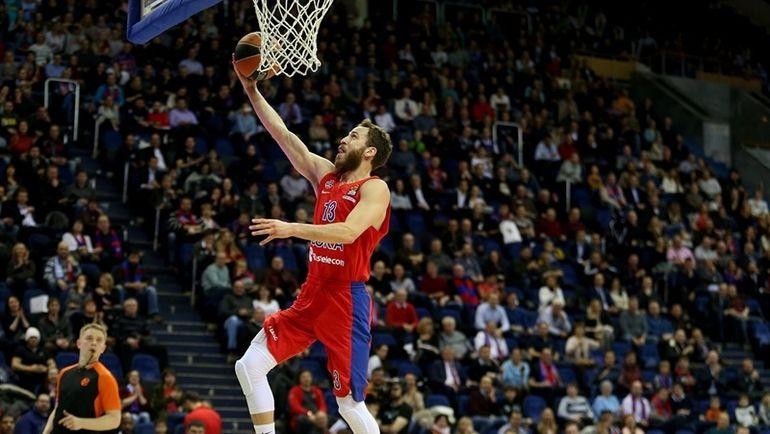 ЦСКА обыграл «Анадолу Эфес» вматче баскетбольной Евролиги