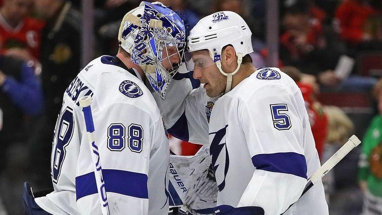 «Тампа Бэй» всухую обыграла «Чикаго» вматче НХЛ, Василевский сделал 40 сейвов