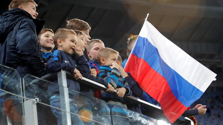С чего все взяли, что российский флаг нельзя приносить на трибуны во время Олимпиады? Фото REUTERS