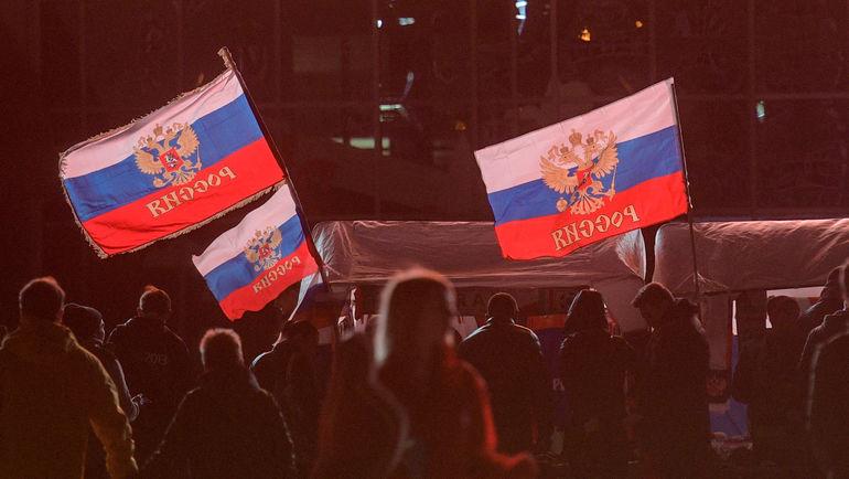 """Флаг России нельзя проносить на объекты Паралимпиады. Фото Дарья ИСАЕВА, """"СЭ"""""""