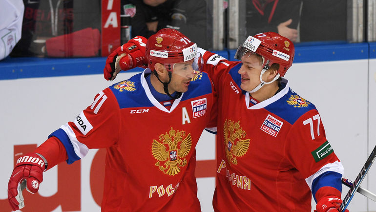 Сборная Российской Федерации одолела Беларусь, Капризов сделал дубль
