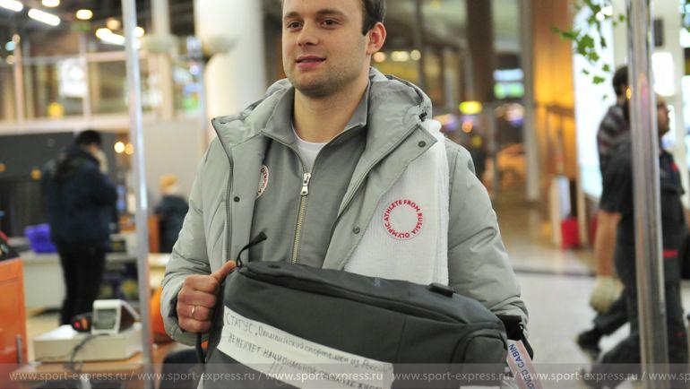 """Сегодня. Шереметьево. Семен ПАВЛИЧЕНКО и его рюкзак. Фото Федор УСПЕНСКИЙ, """"СЭ"""""""