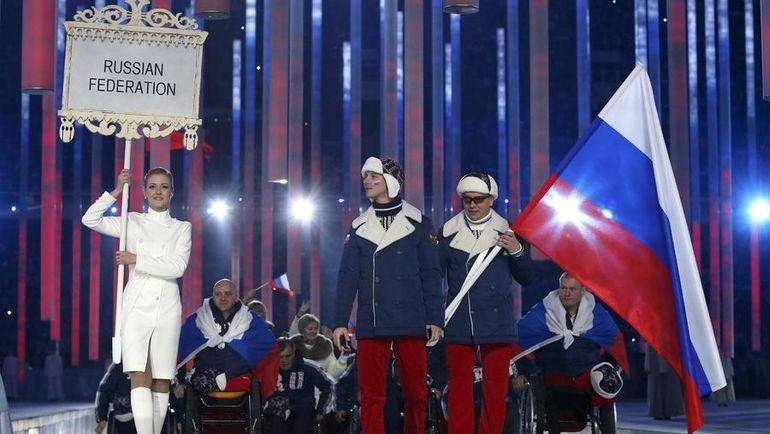 7 марта 2014 года. Сочи. Российская делегация во время церемонии открытия Паралимпийских игр-2014. Фото REUTERS