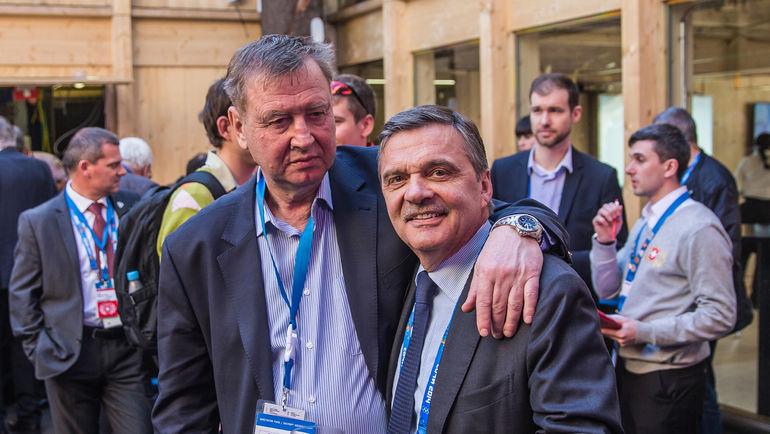 """Юрий ЛЯПКИН (слева) и Рене ФАЗЕЛЬ. Фото Юрий ГОЛЫШАК, """"СЭ"""""""