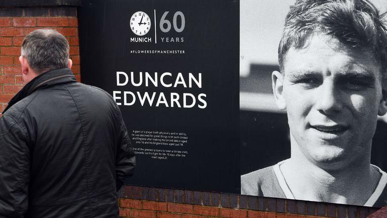 Плакат с изображением Данкана Эдвардса. Фото AFP