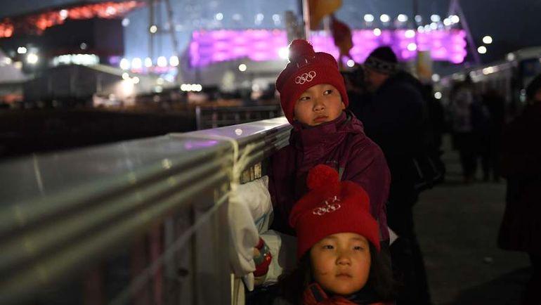 Сегодня. Пхенчхан. Дети перед церемонией открытия Олимпиады-2018. Фото AFP