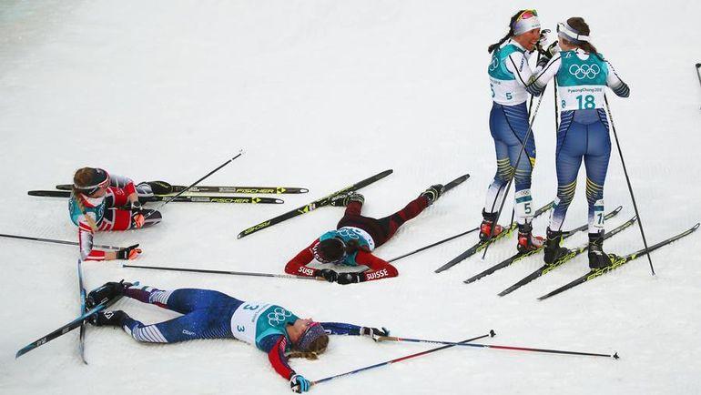 Первую золотую медаль Олимпиады-2018 завоевала шведская лыжница Калла