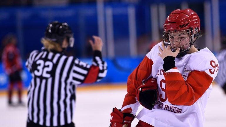 Воскресенье. Каннын.  Канада - Россия - 5:0. Одна из лидеров   нашей сборной   Анна ШОХИНА не смогла отличиться в матче против канадок. Фото AFP