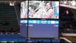 Сумасшедший оркестр на хоккее!