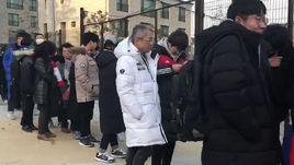 Людские пробки перед матчем единой Кореи