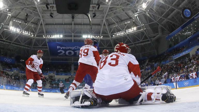 Сегодня. Каннын. Словакия - Россия - 3:2. Россияне неожиданно проиграли на старте Олимпиады. Фото REUTERS