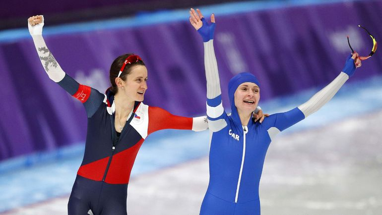 Мартина САБЛИКОВА и Наталья ВОРОНИНА. Фото REUTERS