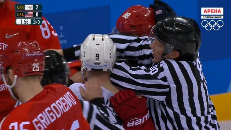 Русские хоккеисты обыграли сборную США ивышли вчетвертьфинал олимпийского турнира