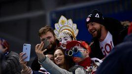 Суператмосфера матча Россия - США