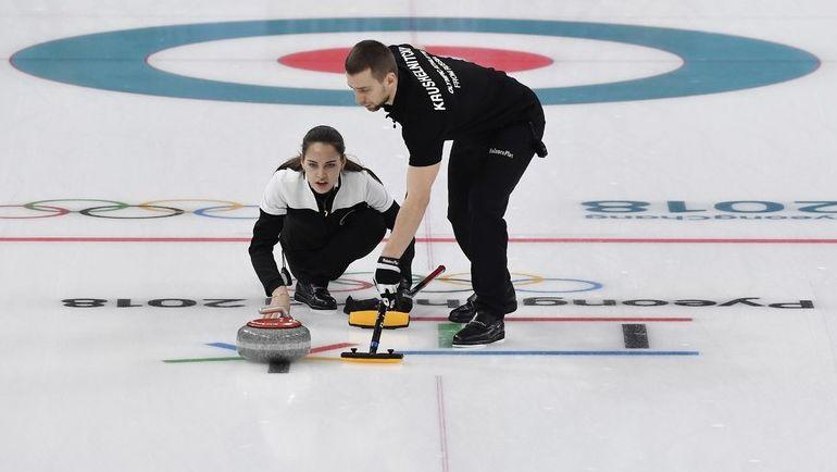 Александр КРУШЕЛЬНИЦКИЙ и Анастасия БРЫЗГАЛОВА в олимпийском Пхенчхане. Фото REUTERS