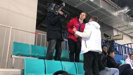 Российским телевизионщикам не дают снимать тренировку сборной Чехии