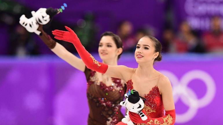 Сегодня. Пхенчхан. Евгения МЕДВЕДЕВА и Алина ЗАГИТОВА. Фото AFP