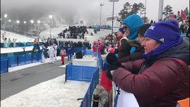 Эмоции Вяльбе во время финиша Большунова. Видео