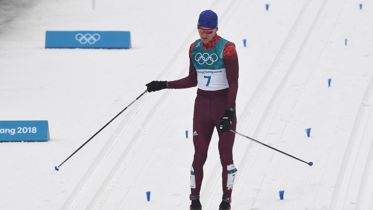 Сегодня. Пхенчхан. Эмоции Александра БОЛЬШУНОВА после финиша. Фото AFP
