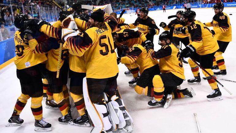 Пятница. Пхенчхан. Канада - Германия - 3:4. Немцы стали главной сенсацией Олимпиады, выбив канадцев и выйдя в финал турнира. Фото AFP