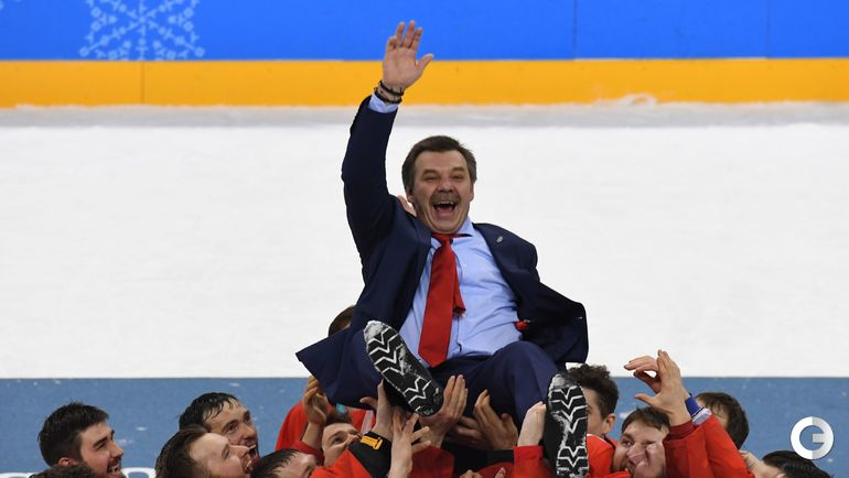 Сегодня. Каннын. Россия - Германия - 4:3 ОТ. Россия празднует чемпионство.