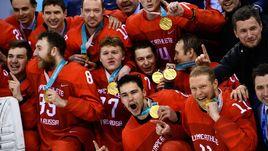 Хоккейная сборная спела гимн России на Олимпиаде. Видео