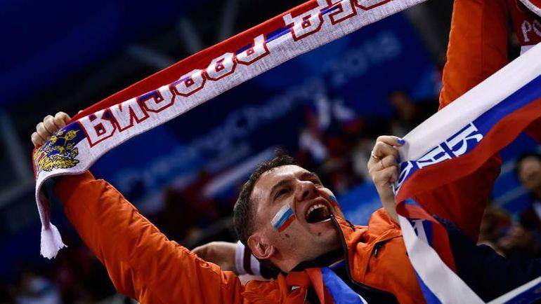 Воскресенье. Пхенчхан. Россия - Германия - 4:3 ОТ. Фанат сборной России во время олимпийского финала. Фото AFP