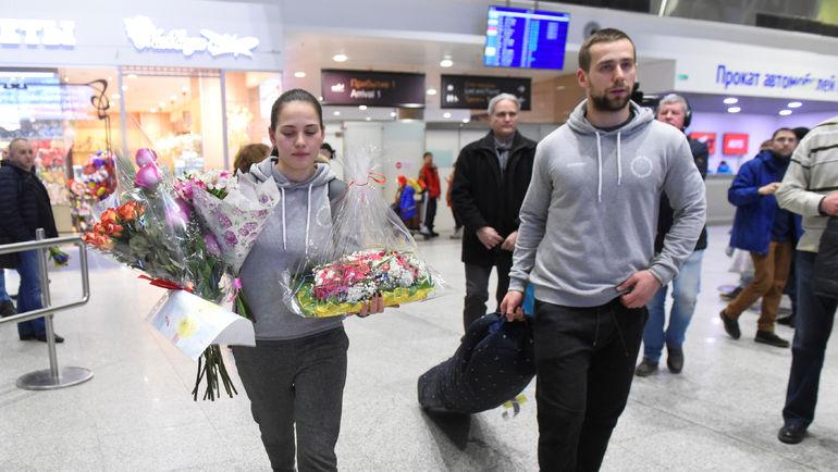 22 февраля Александр КРУШЕЛЬНИЦКИЙ и Анастасия БРЫЗГАЛОВА вернулись из Пхенчхана в Санкт-Петербург. Фото REUTERS