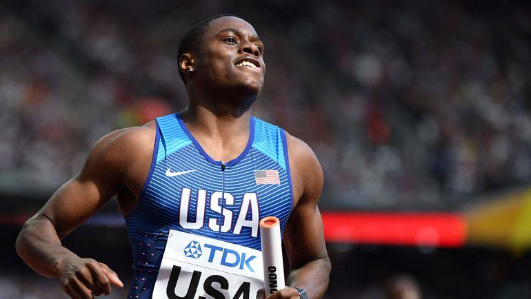Кристиан КОУЛМЭН - мировой рекордсмен на дистанции 60 м. Фото AFP