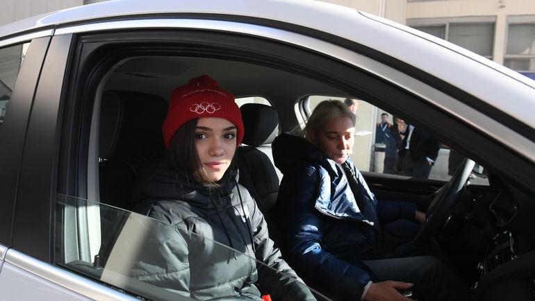 """Евгения МЕДВЕДЕВА в автомобиле. Фото Александр ФЕДОРОВ, """"СЭ"""""""