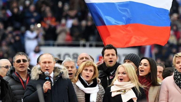 Владимир ПУТИН предложил исполнить гимн России в честь участников Олимпиады-2018. Фото AFP