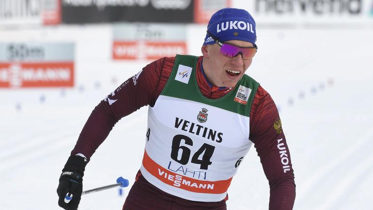 Алексей Полторанин одержал победу  гонку на15 километров, Александр Большунов