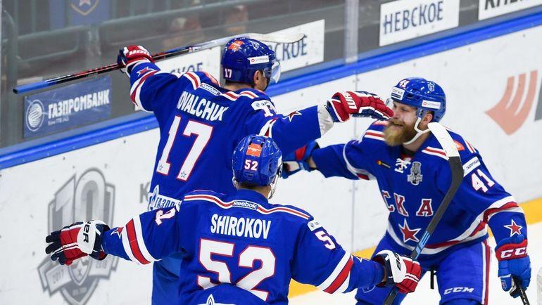 """Сегодня. Санкт-Петербург. СКА - """"Северсталь"""" - 4:3 ОТ. Питерцы начали плей-офф с трудной победы. Фото ХК СКА, twitter.com/hcska"""