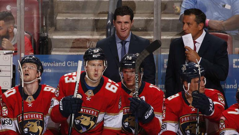 """Воскресенье. Санрайз. """"Флорида"""" – """"Филадельфия"""" – 4:1. Автор дубля Евгений ДАДОНОВ (№63) и Александр БАРКОВ (№16). Фото NHL.com"""