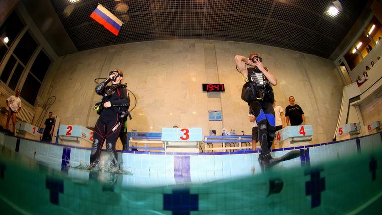 Старт и вход в воду. Фото Александр ГУБИН, Федерации спортивного дайвинга