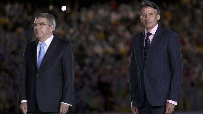 Если президент МОК Томас БАХ (слева) повернулся лицом к России, то глава ИААФ Себастьян КОЭ делать этого не спешит. Фото REUTERS