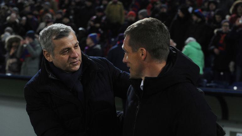 "Брюно ЖЕНЕЗЬО (слева) и Виктор ГОНЧАРЕНКО. Фото Александр ФЕДОРОВ, ""СЭ"""