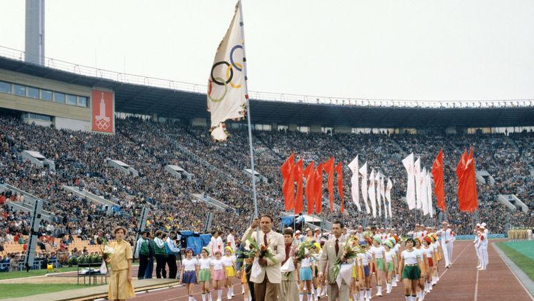 19 июля 1980 года. Москва. Церемония открытия Олимпийских игр. Фото Сергей МЕТЕЛИЦА, ТАСС
